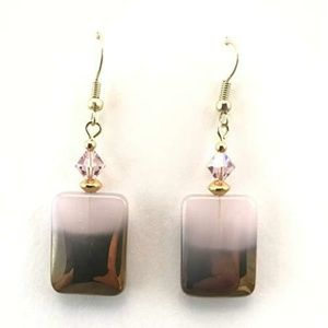 Jewelry - !!SALE 3/$30!! Soft Pink/Gold Dipped~Crystal